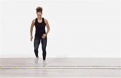 Ladder Shuffle Lateral Fitness Agility Exercise Step