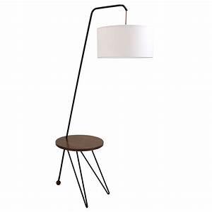 shura modern floor lamp side table eurway With floor lamp behind side table