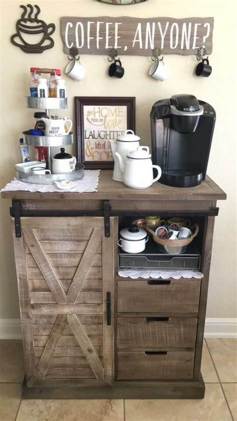 It can replace the usual table in a small room. 30+ Best Home Coffee Bar Ideas for All Coffee Lovers