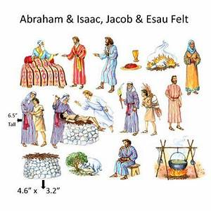 Abraham & Isaac Felt Figures for Flannel Board Bible ...