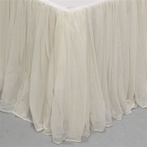 couture dreams whisper ivory bedskirt ships  romantic bedding
