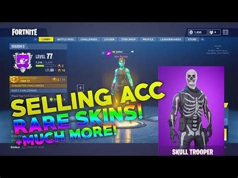 sellingtrading fortnite account offers  youtube
