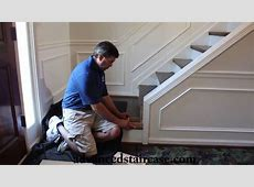 How to Install a Box Newel and Handrail Knee wall YouTube