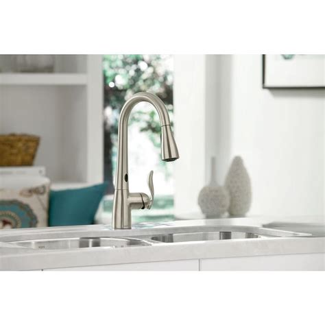 moen motionsense kitchen faucet home depot moen 7594ec arbor motionsense single handle pull