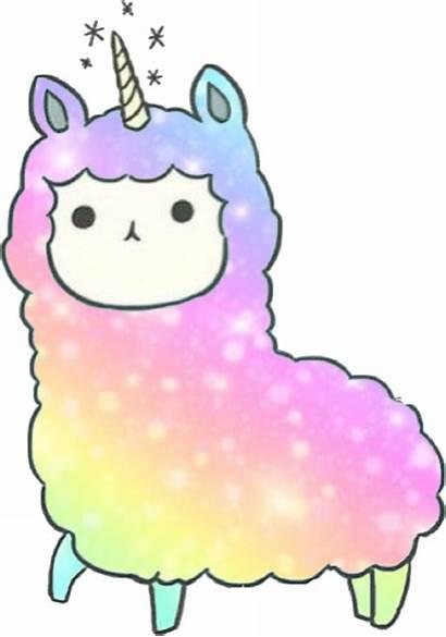 Llama Kawaii Llamacorn Sticker Picsart