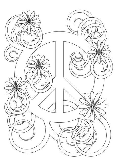 Flower Peace Symbol - Buzzle.com Printable Templates