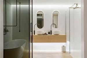 Une salle de bain contemporaine for Belle salle de bain contemporaine