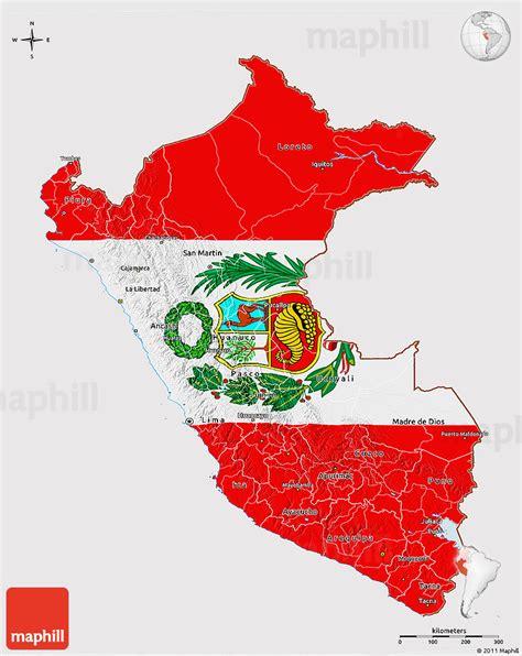 flag  map  peru flag rotated