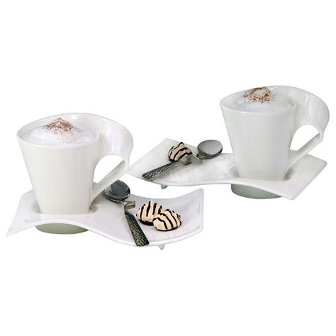 villeroy boch spülbecken villeroy boch new wave caffe 11 75 oz white coffee set 6 set 1024847262 the home depot