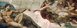Michelangelo Sistine Chapel God Adam Hands | Foto Bugil ...