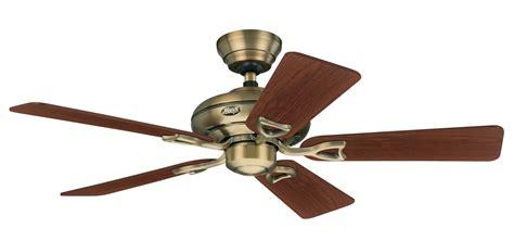 vintage hunter ceiling fans hunter seville ii in antique brass with free ceiling fan