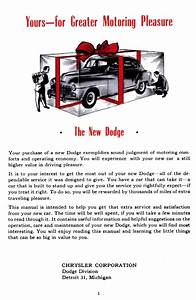1947 Dodge D24 Sedan Drivers Manual Pdf