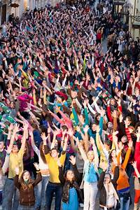 Eurovision Flash Mob Dance Moments Editorial Stock Photo ...