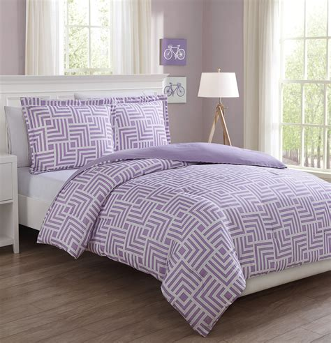 microfiber kids maze purple white reversible comforter set ebay