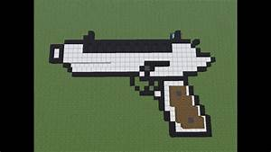 Minecraft: how to make a gun no mod 1.8 - YouTube
