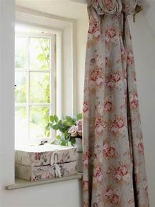 17 best images about country cottage window treatments on With english floral curtains