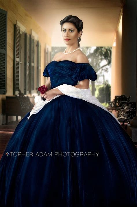 o hara dress handmade scarlett o hara gone with the wind blue velvet portrait gown dress costume adult by