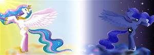 Princess Celestia and Princess Luna (MLP) by Azzu-nyan on ...