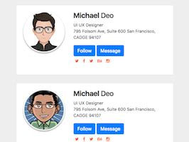 bootstrap card examples page