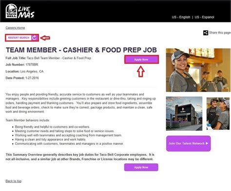 How To Apply For Taco Bell Jobs Online At Tacobellcomcareers