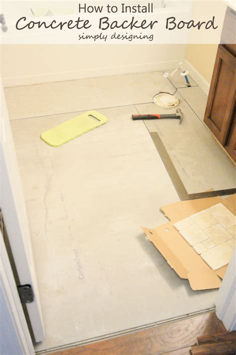 Hardibacker Tile Backer Board by How To Install Concrete Backer Board Tile Installation