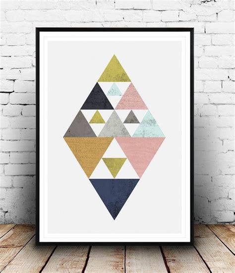 imprimer des triangles affiche geometrique design par