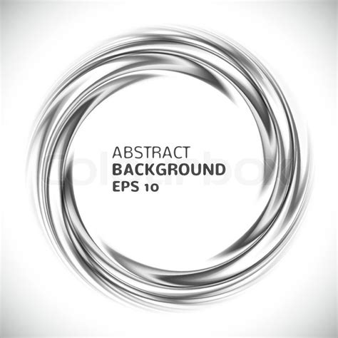 Abstract White Circle Black Background by Abstract Black And White Swirl Circle Background Vector