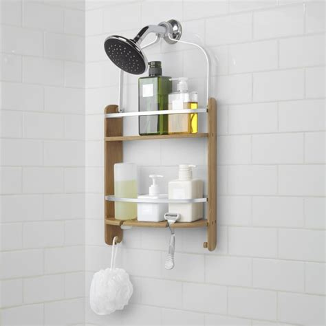 Kitchen Organizer Ideas - umbra barrel bamboo shower caddy natural kitchen stuff plus