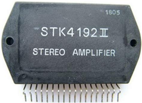 Stk Power Amplifier Electronic Circuits