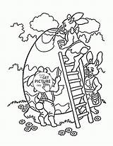 Easter Coloring Pages Egg Bunny Printables Colouring Wuppsy Printable Eggs Children sketch template