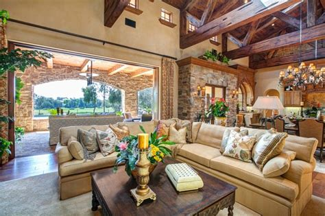 Luxury Home With Indoor Outdoor Family Living Spaces by Luxury Indoor Outdoor Living Room Design In Rancho Santa