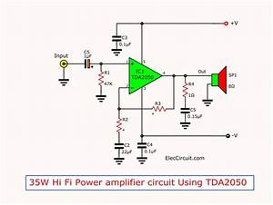I U0026 39 M Yahica  Tda2050 Subwoofer Amplifier Circuit