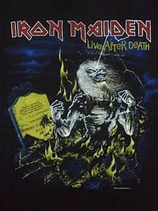 Vintage 1985 Iron Maiden Live After Death T