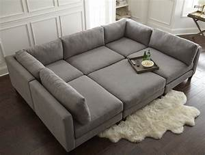 Home by sean catherine lowe chelsea modular sectional for Modular pit sectional sofa