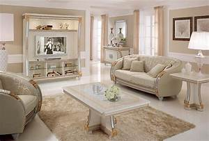 Dekoration Für Wohnzimmer : tv wand mit klassischen linien ideal f r die dekoration luxus wohnzimmer mit details in ~ Udekor.club Haus und Dekorationen