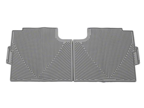 weathertech f 150 all weather rear rubber floor mats gray t527411 15 17 supercab supercrew