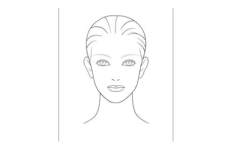 kb beautycom blank face chart temples male  female