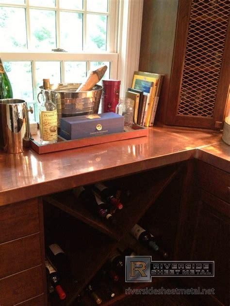 copper counter top  liquor bottles  riverside boston