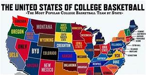 Map: Most popular college basketball teams by state