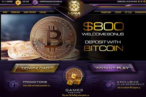 The bonus incentives that are provided in secure bitcoin casinos are not different from those of in such a case, players should go to sites with the highest limits. Miami Club Casino $800 Welcome Bonus Using Bitcoin