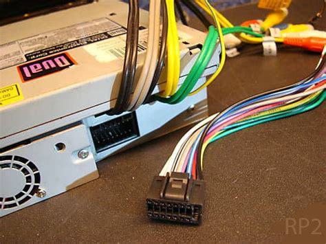 dual  pin indash radio wire harness stereo power plug cd