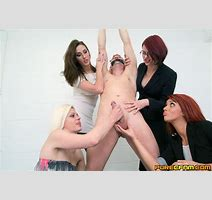 Chained Naked Jerk Fondled Jacked Off By Clothed Women