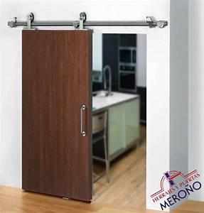 Kit para puerta corredera de madera for Puerta corredera exterior