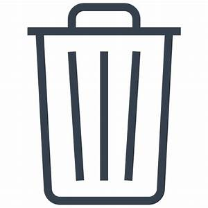 Bin, delete, empty, out, recycle, remove, trash icon ...