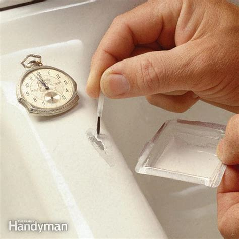 how to restore a copper sink how to fix a chipped sink the family handyman