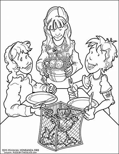 Coloring Pages Spaghetti Monster Sharing Activity Pizza
