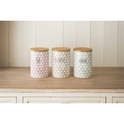 white ceramic kitchen canisters diamonds tea coffee sugar set 3pc kitchenware