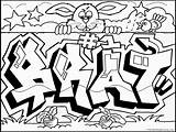 Graffiti Coloring Pages Words Wall Brat sketch template