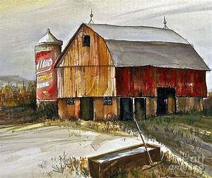 wisconsin barn painting by robert birkenes With barn wood for sale wisconsin