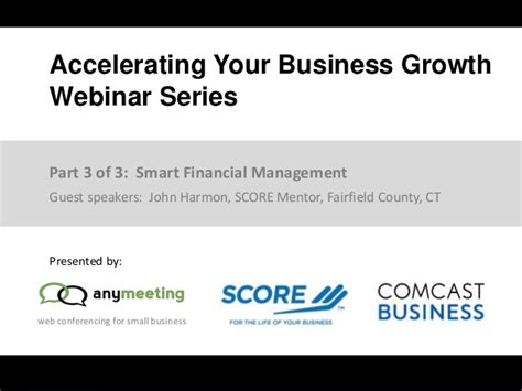 Smart Financial Management  From Part 3 Of The Free Webinar Series